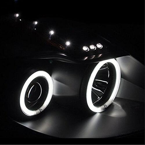 Halo projector headlights with CCFL halos