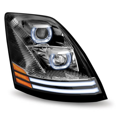 Black halo headlight