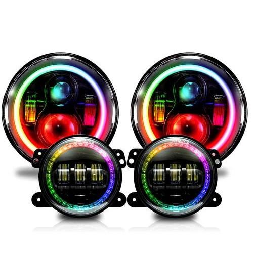 RGB headlights for Jeep Wrangler