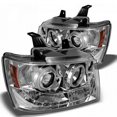 Spyder Black Projector CCFL Halo Headlights for Chevy Tahoe