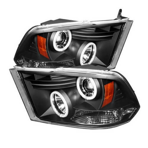 Spyder Black Projector CCFL Halo Headlights for Dodge Ram