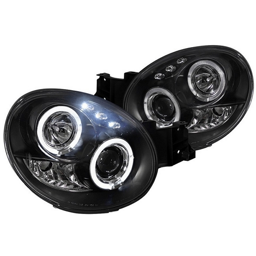 black dual halo projector headlights by Spec-D