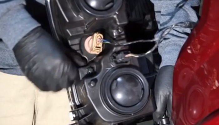 Disconnect headlight connectors