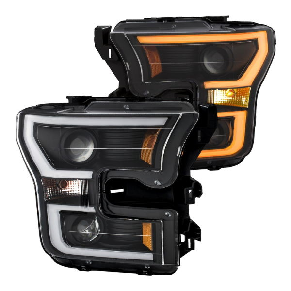 Anzo Switchback U-bar headlights for the F-150 DRL works as turn signal