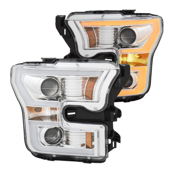 Chrome Anzo headlights for the F-150