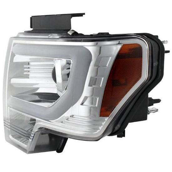 Chrome Spyder headlights for the F-150: profile
