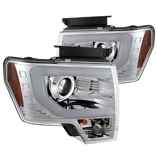 Chrome Spyder headlights for the F-150