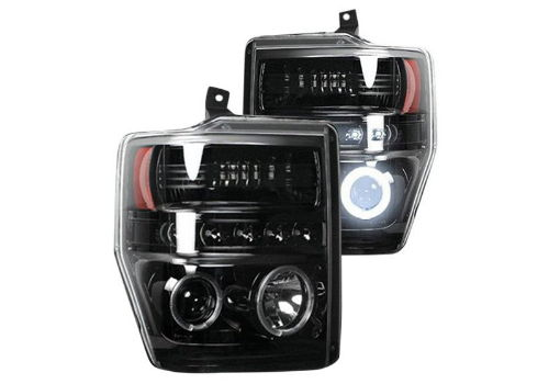 Recon Black Halo Headlights