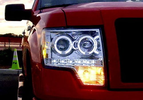 Recon chrome projector headlights